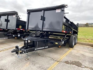 Dump Trailer 12000 GVW Professional Grade  Dump Trailer 12000 GVW Professional Grade. 12,000 GVW, dual cylinders, tarp kit included, and dual function tailgate.